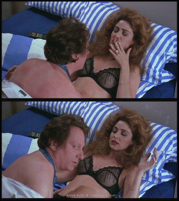 Annie Potts Breasts Scene in Corvette