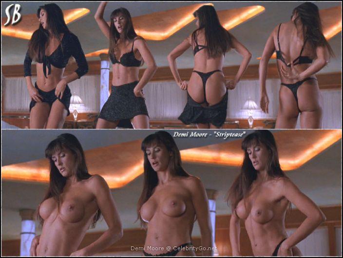 Topless demi moore striptease